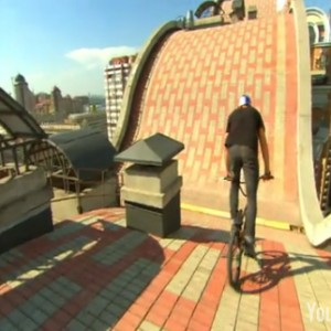 BMX on the roof