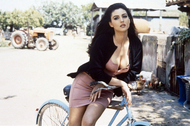 Monica Bellucci Bicycle