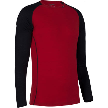 Dhb Merino Long Sleeve Base Layer M 150 Base Layers Red MERINOM150 0