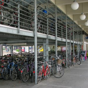 Yet another train station with gobs of bike parking.  I think this was at Oerlikon