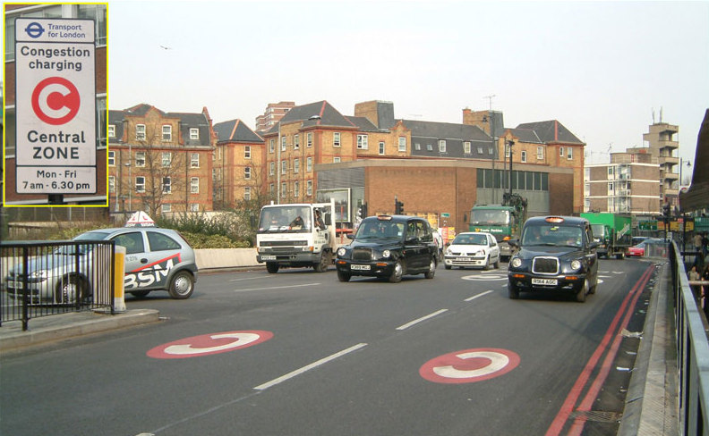 London Congestion Charge Old Street England